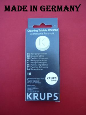 Krups Coffee Espresso Machine Cleaning Tablet XS3000 KAXS300010