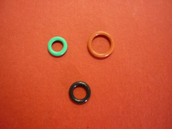 Delonghi Coffee Machines three O-Ring set for Hot Water or milk frother coupling: