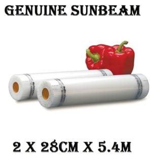 Sunbeam Vacuum Heat Sealer, Food Saver, FoodSaver Bags 2 x 28CM x 5.4M - VS0520