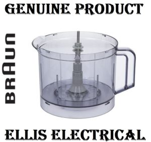 BRAUN MULTIQUICK 7, MULTISYSTEM FOOD PROCESSOR CHOPPING BOWL, COINTAINER FOR 3210 K1000, KM3050 PN: BR63210652